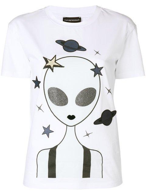 Emporio Armani Alien Print T-shirt - Farfetch
