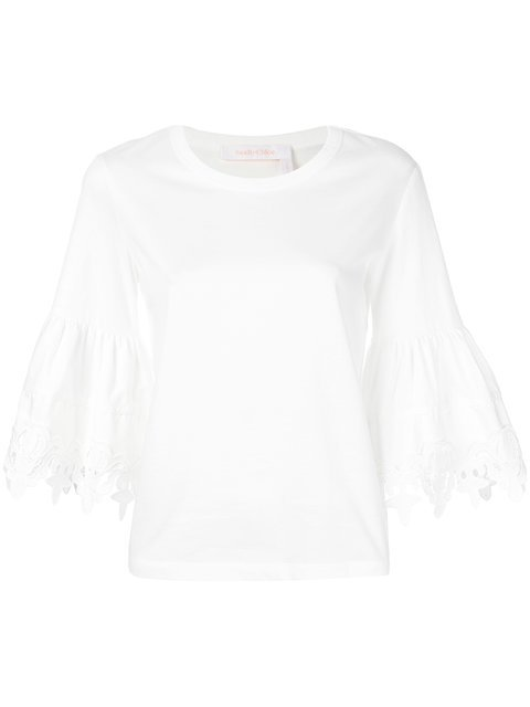 See By Chloé Bell Sleeved T-shirt - Farfetch