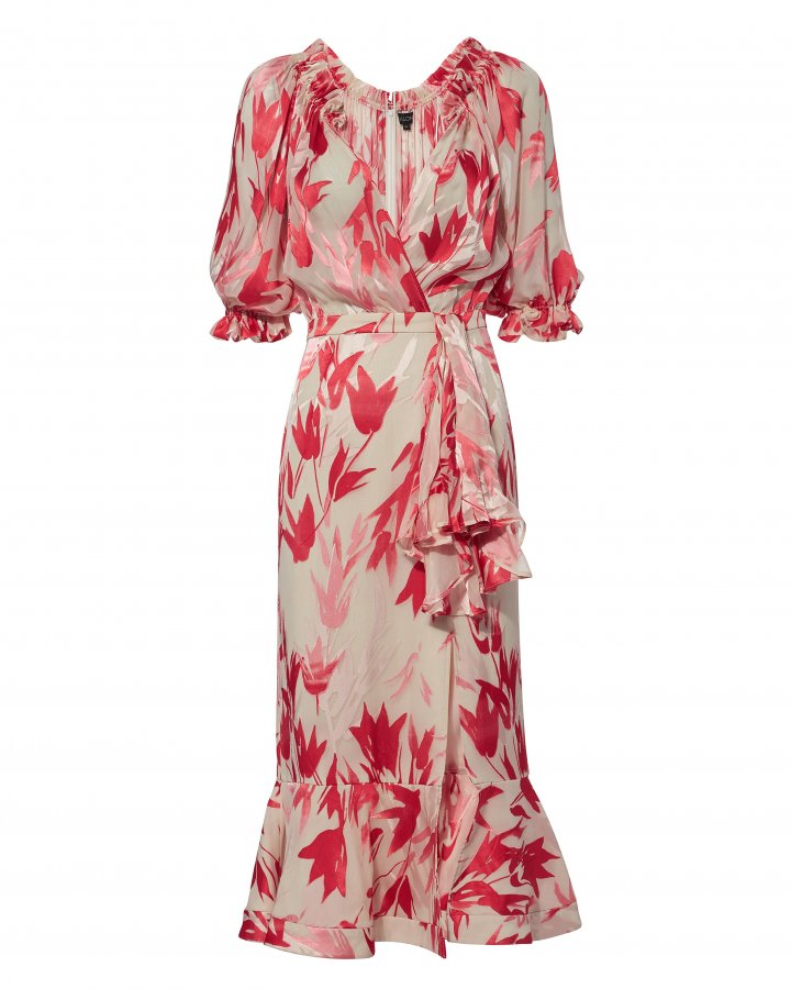 Olivia Floral Midi Dress