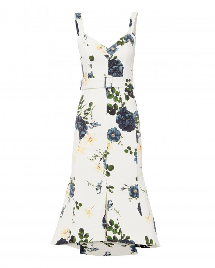 Blue Rose Midi Dress