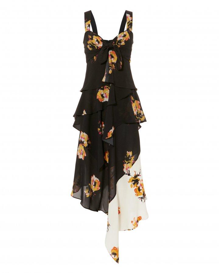 Natalia Two-Tone Floral Dress