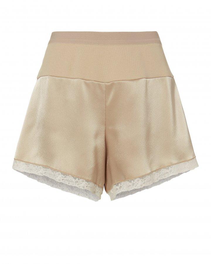 Heavy Draped Satin Shorts