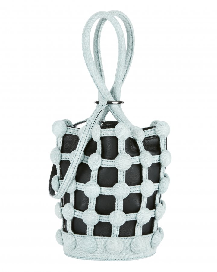 Roxy Cage Bucket Denim Bag
