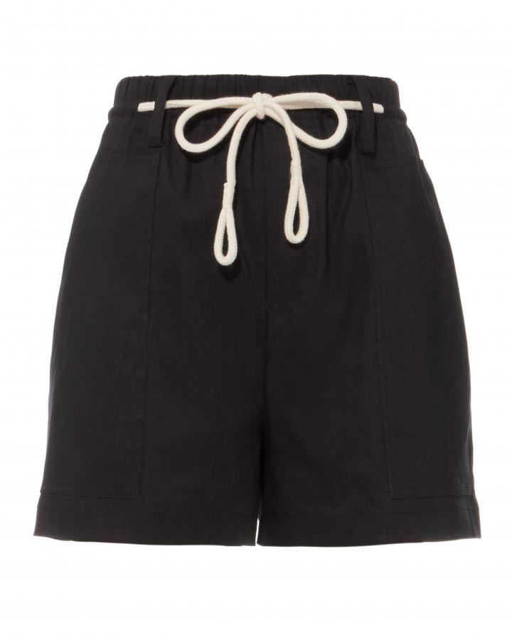 Rope Tie Black Shorts