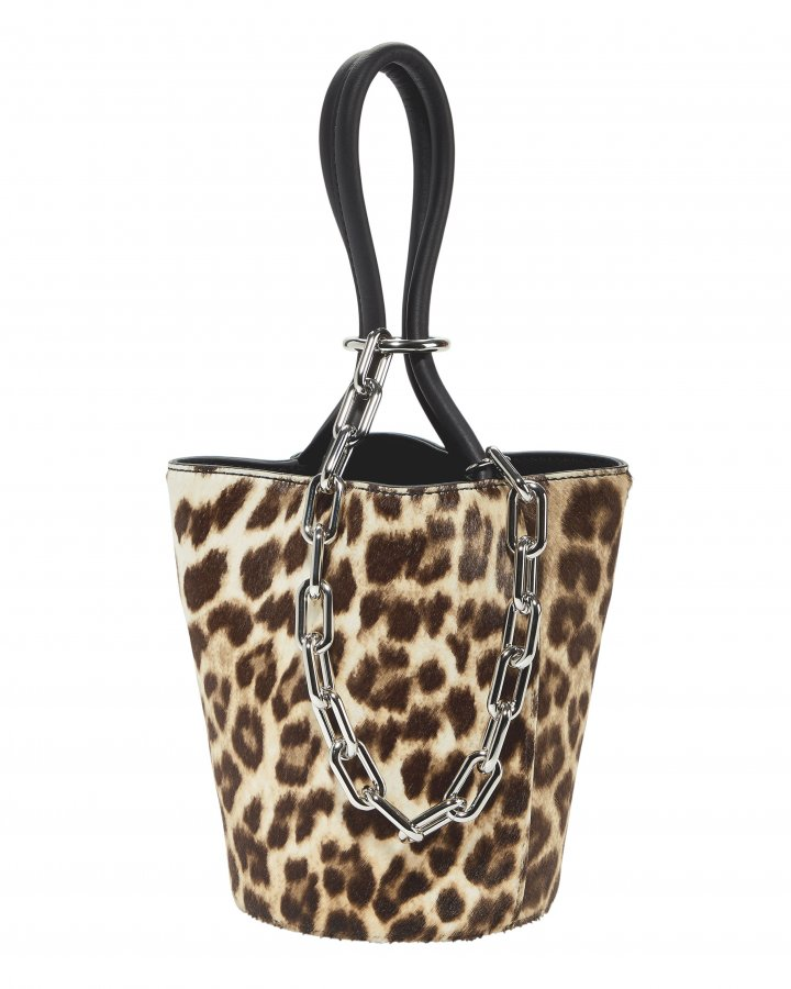 Roxy Leopard Mini Bucket Bag