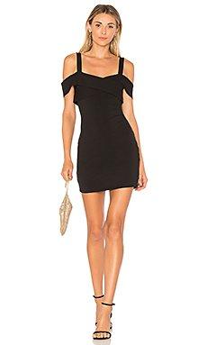 Evie Cold Shoulder Mini Dress in Black