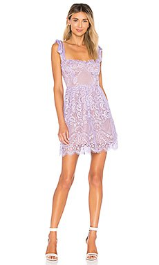 Valentina Lace Mini Dress in Lavender