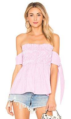 Off the Shoulder Top in Carnation Pink