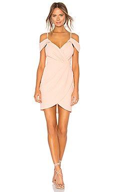 Brenda Draped Dress in Blush
