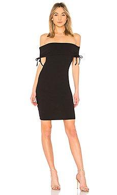 Jizelle Off Shoulder Dress in Black