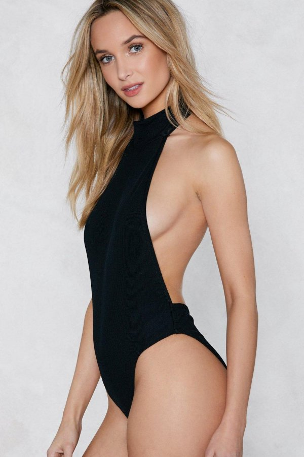 Back-Up Plan Ribbed Bodysuit