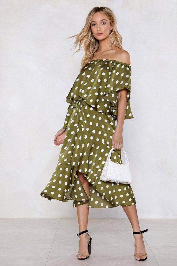 Jet Set for Summer Polka Dot Skirt