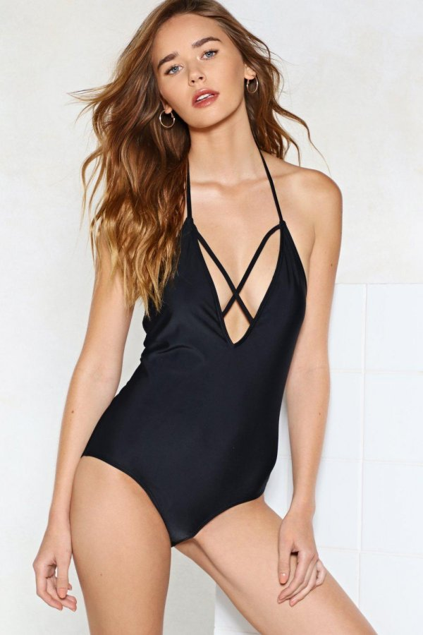 Cross My Heart Strappy Swimsuit