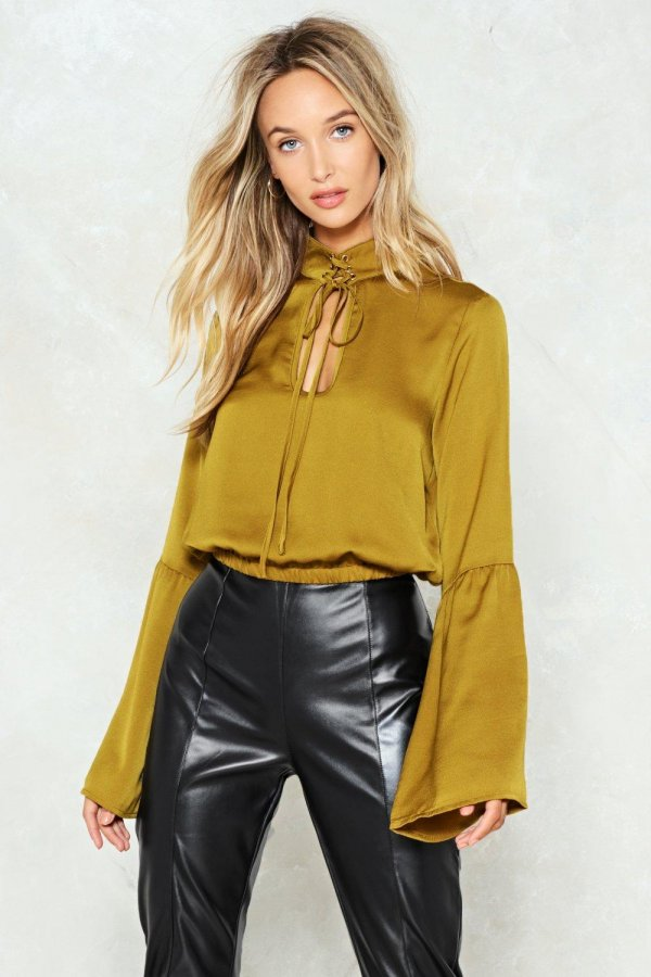 Bell the Truth Satin Top