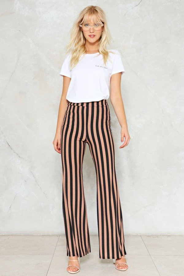 Flare to the Throne Striped Pants
