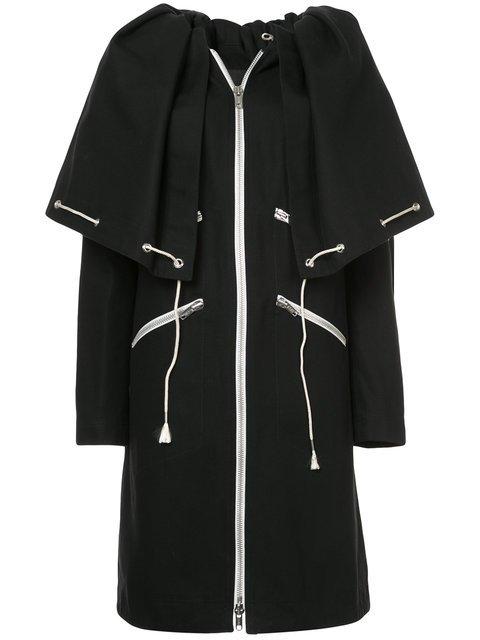 Calvin Klein 205W39nyc Drawstring Cape Coat - Farfetch