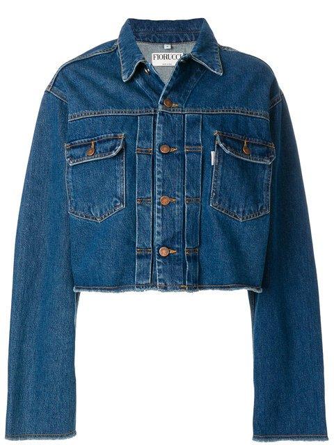 Fiorucci Cropped Denim Jacket  - Farfetch