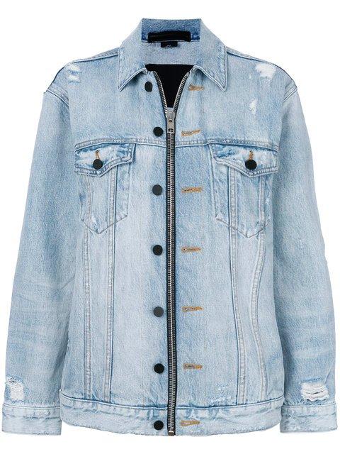 Alexander Wang Daze Zip Denim Jacket - Farfetch