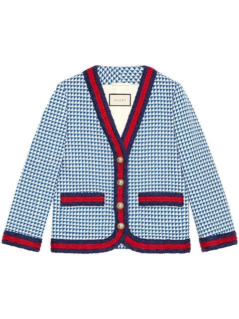 Gucci Wool Jacket With Web - Farfetch