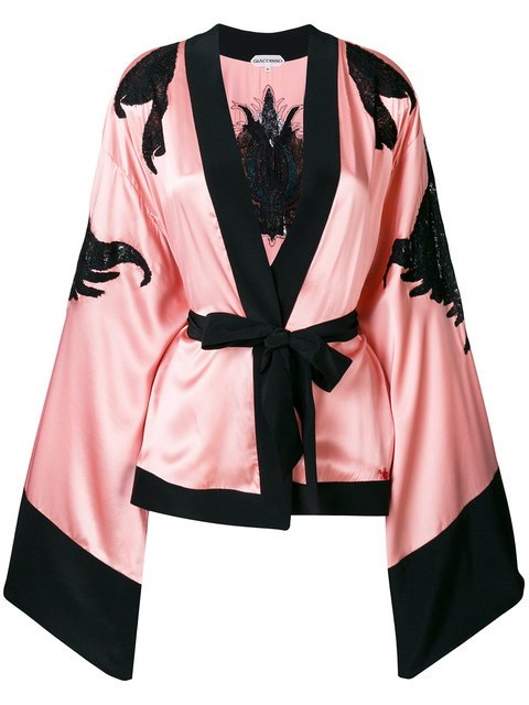 Giacobino Sheer Panels Kimono Jacket - Farfetch
