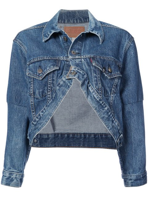 R13 Cropped Denim Jacket - Farfetch