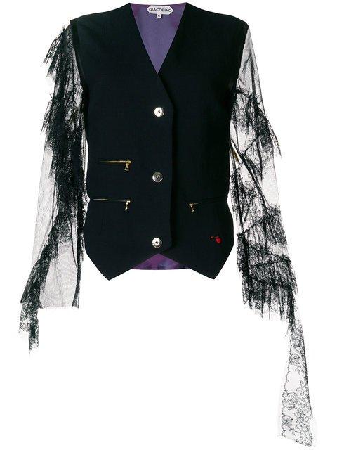 Giacobino Lace Sleeve Waistcoat - Farfetch