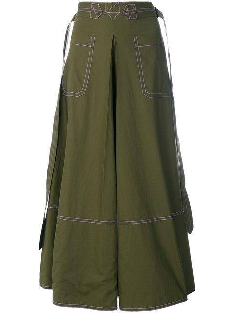 Marni Contrast Stitch Skirt - Farfetch
