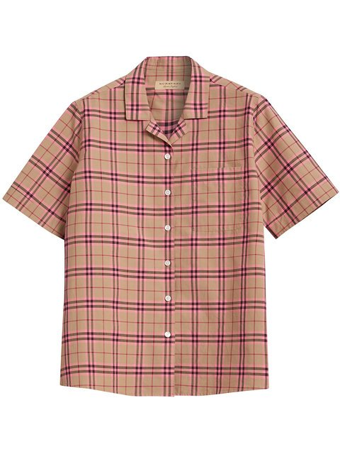 Burberry Check Cotton Short-sleeved Shirt - Farfetch