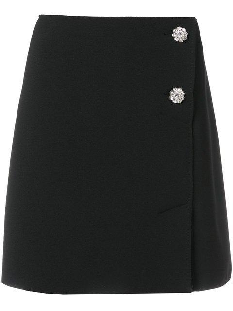 MSGM Decorative-button Wrap Skirt - Farfetch