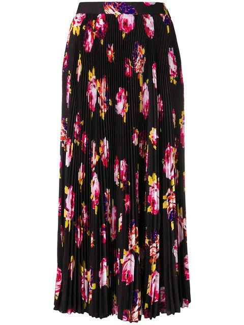 MSGM Floral-print Skirt - Farfetch