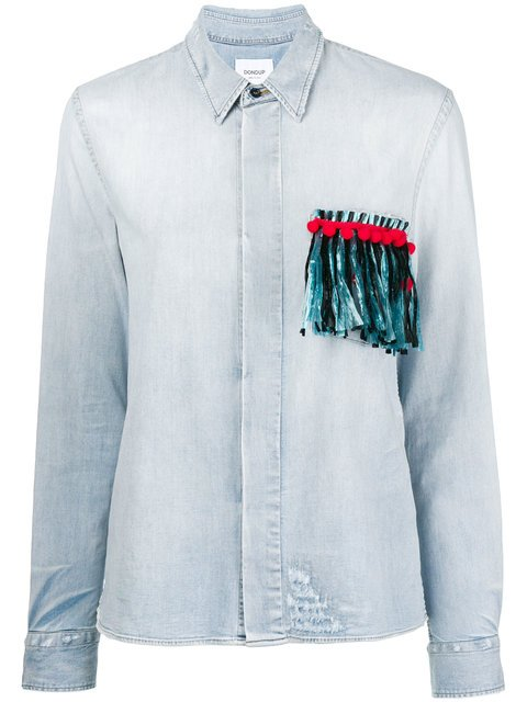 Dondup Fringed Pocket Denim Shirt - Farfetch