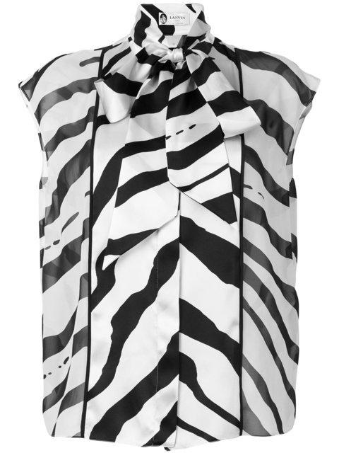 Lanvin Graphic Stripe Blouse - Farfetch