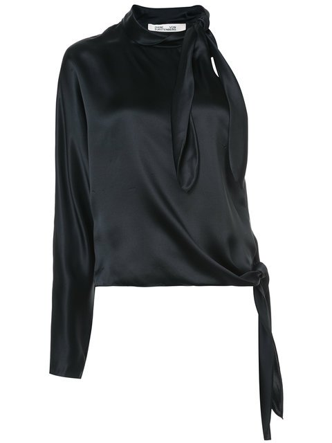 Diane Von Furstenberg One Shoulder Knotted Blouse - Farfetch