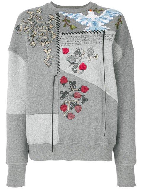 Alexander McQueen Embroidered Patchwork Sweatshirt - Farfetch