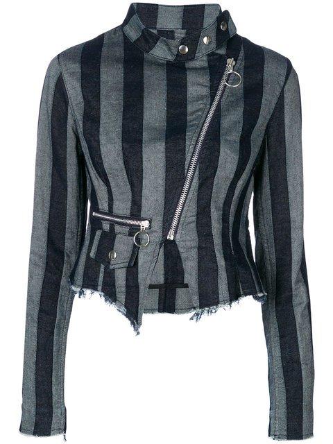 Marques\'almeida Striped Biker Jacket - Farfetch
