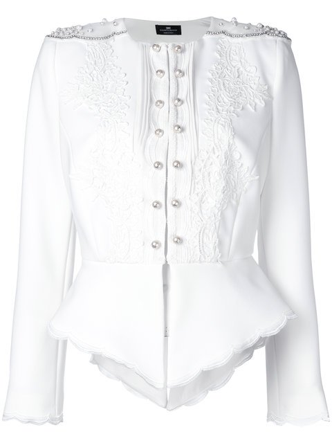 Elisabetta Franchi Embroidered Fitted Jacket - Farfetch
