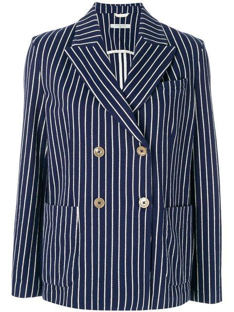 Circolo 1901 Striped Double-breasted Blazer - Farfetch