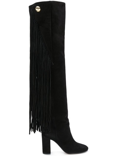 Chloé Qaisha Fringed Over-the-knee Boots - Farfetch