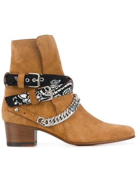 Amiri Bandana Buckle Boots - Farfetch