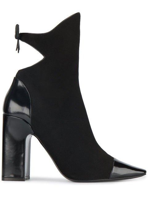 Fabrizio Viti Black Suede Bow 110 Boots - Farfetch