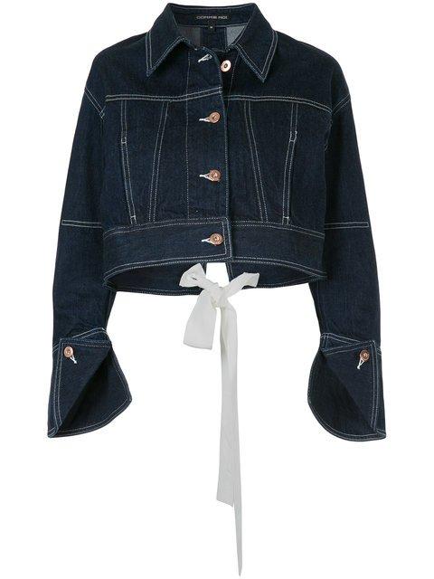 Comme Moi Denim Cropped Jacket - Farfetch