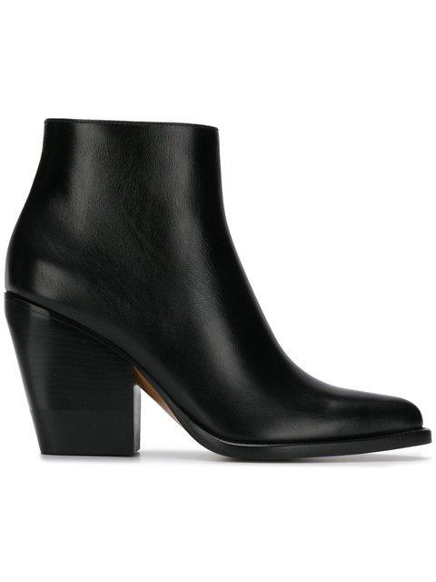 Chloé Chunky Heeled Boots  - Farfetch