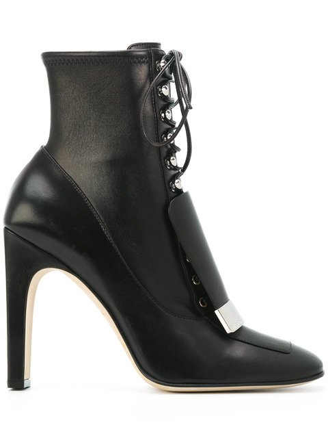 Sergio Rossi Lace-up Square-toe Boots - Farfetch