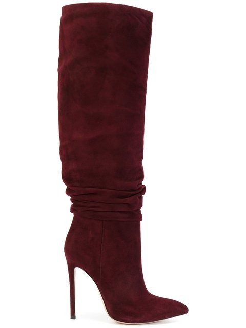 Gianni Renzi Ruched Detail Mid-calf Boots - Farfetch