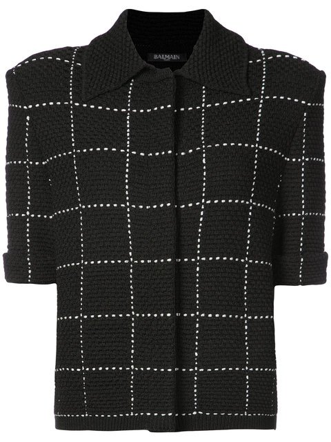 Balmain Short-sleeved Tweed Jacket - Farfetch