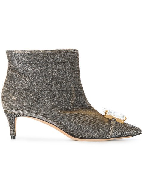 Marco De Vincenzo Embellished Ankle Boots - Farfetch