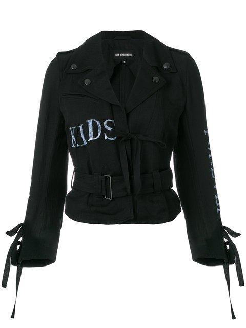 Ann Demeulemeester Kids Forever Biker Jacket - Farfetch