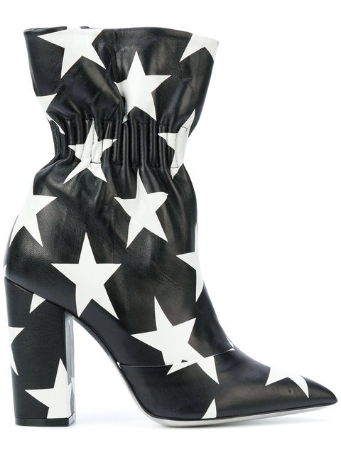 MSGM Star Print Elasticated Ankle Boots - Farfetch