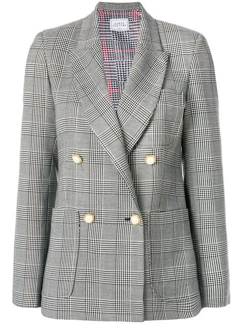 Forte Dei Marmi Couture Checked Double Breasted Blazer - Farfetch