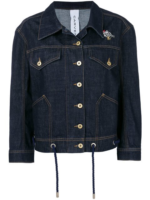 Carven Bead-embellished Denim Jacket - Farfetch